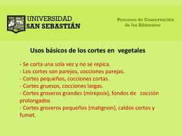 Usos básicos de los cortes en vegetales CHIFFONADE