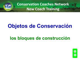 Objetos de Conservación - Conservation Coaches Network