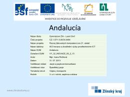 Andalucía - zlinskedumy.cz