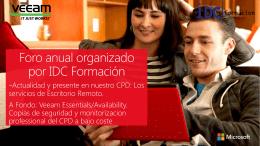 Presentacion - IDC Formación
