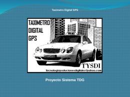 Presentacion taximedto digital GPS