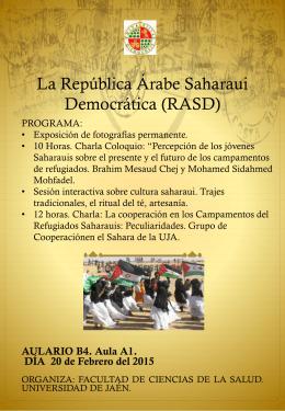 EXPOSICIÓN DE FOTOGRAFIAS La República Árabe Saharaui
