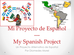 Spanish Project - Diomedes Morel Portfolio Level 3