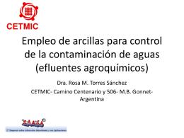 Empleo de arcillas para control de la contaminación de aguas