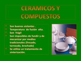 Materiales cerámicos y compuestos