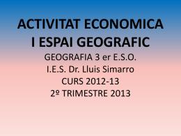 activitat economica i espai geografic