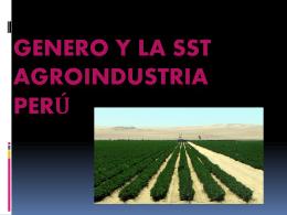 GENERO Y LA SST Agroindustria perú