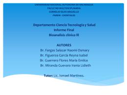 Niveles de glucemia diagnosticados en pruebas bioquímicas
