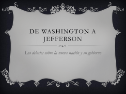 Washington a Jefferson