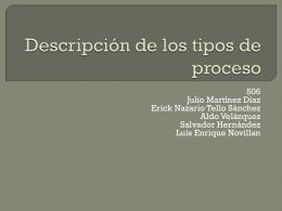 Descripción de los tipos de proceso