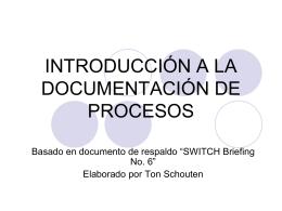 Qué es Documentación de Procesos?