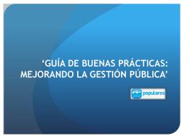 guía de buenas prácticas*: mejorando la gestión pública