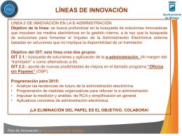 Línea 2 - Servicio de Calidad y Modernización