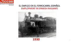 EL EMPLEO EN EL FERROCARRIL ESPAÑOL