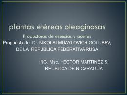 Plantas de aceites y esencias (Presentación - 2.4Mb)