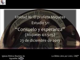 Miqueas - Iglesia Bíblica Bautista de Aguadilla