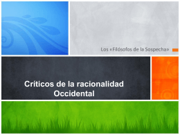 Críticos de la racionalidad Occidental