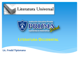 Literatura Occidental Lic. Fredd Tipismana