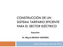 perspectiva de la regulación de distribución eléctrica