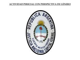 ACTIVIDAD PERICIAL CON PERSPECTIVA DE GÉNERO