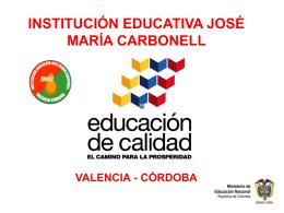 SIGCE - INSTITUCIÓN EDUCATIVA JOSÉ MARÍA CARBONELL