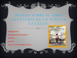 Trabajo sobre el libro «Aventuras de un niño en la calle»