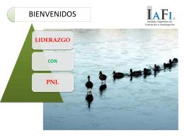 Diapositiva 1 - Cursos de PNL IAFI