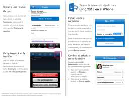 Quick Reference for Lync 2013 on the iPhone - IntraEdu
