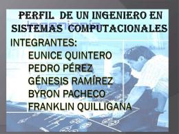Diapositiva del Perfil de un Ingeniero en