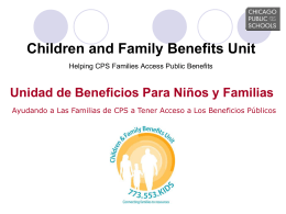Children and Family Benefits Unit