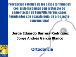 Presentación - Percepcion estetica Damon vs Arco recto