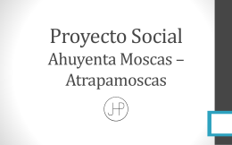 Proyecto Social Ahuyenta Moscas * Atrapa Moscas