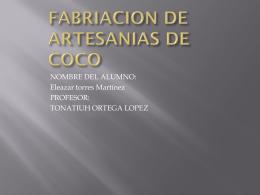 FABRIACION DE COCO