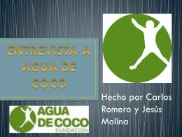 agua de coco Colegio La Inmaculada HH