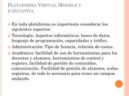 Plataforma Virtual Moodle y e