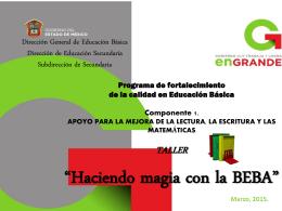 Dirección General de Educación Básica Dirección de Educación