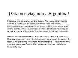¡Estamos viajando a Argentina!