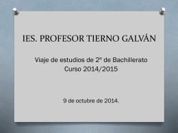 viaje 2º bachillerato - ies profesor tierno galvan