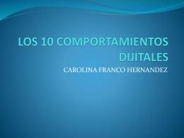 LOS 10 COMPORTAMIENTOS DIJITALES