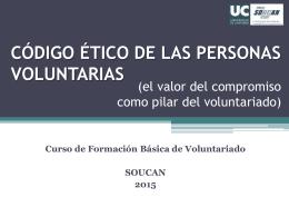 Código ético de las personas voluntarias SOUCAN