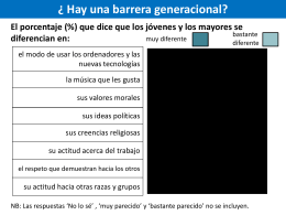 Hay una barrera generacional?