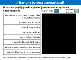 Hay una barrera generacional?