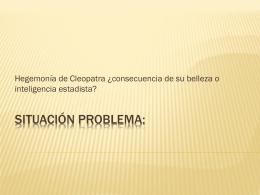 SITUACIÓN PROBLEMA:
