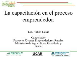 Capacitacion en el proceso emprendedor - Ruben Cesar