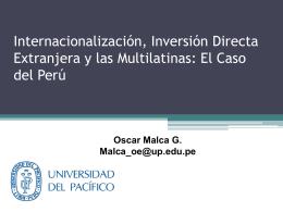 Entorno Económico y Clima de Negocios - Perú