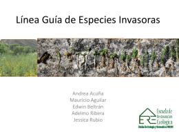 Línea Guía de Especies Invasoras - EREespecies