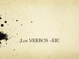 ER verbs presentation