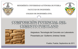 composición potencial del cemento portland