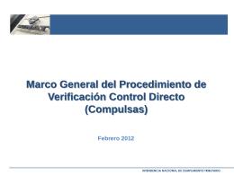 Marco General del Procedimiento de Verificación Control Directo