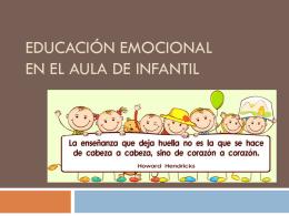 EDUCACIÓN EMOCIONAL en el aula de infantil